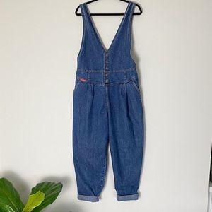 Vintage 90's Denim Overalls | size large